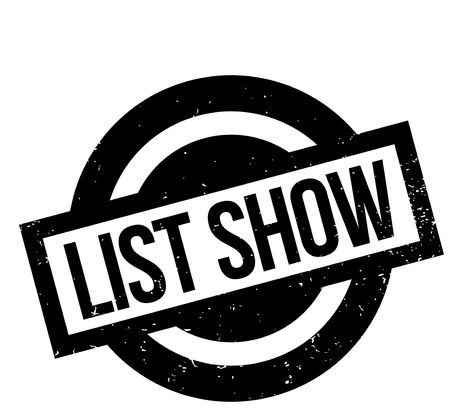 List Show rubber stamp