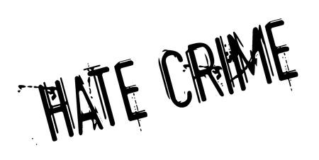 Illustration pour Hate Crime rubber stamp - image libre de droit