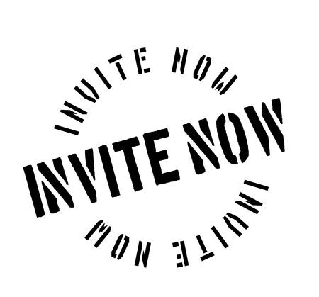 Invite Now rubber stamp