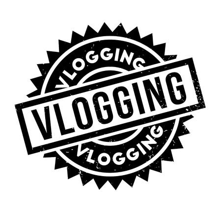 Vlogging rubber stamp