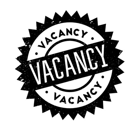 Vacancy rubber stamp