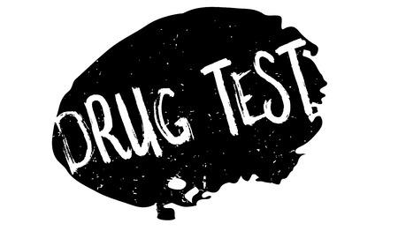 Drug Test rubber stamp