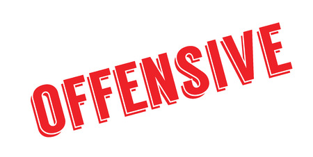 Offensive rubber stamp