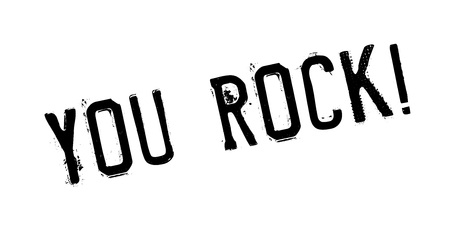 Illustration for You Rock rubber stamp. Grunge design with dust scratches. Effects can be easily removed for a clean, crisp look. Color is easily changed. - Royalty Free Image