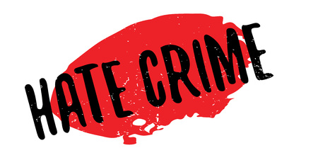Illustration pour Hate Crime rubber stamp. Grunge design with dust scratches. Effects can be easily removed for a clean, crisp look. Color is easily changed. - image libre de droit