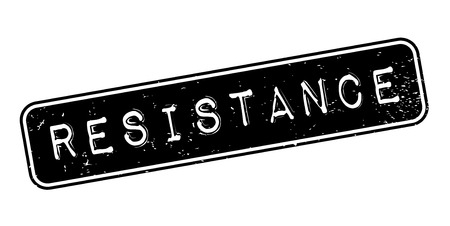 Resistance rubber stamp. Grunge design with dust scratches.