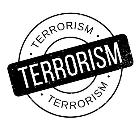 Terrorism rubber stamp. Grunge design with dust scratches.