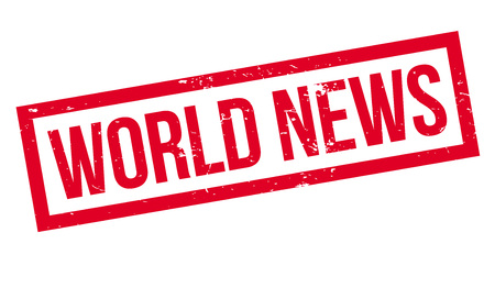 World News rubber stamp for Grunge design with dust scratches.