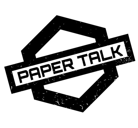 Paper Talk rubber stamp. Grunge design with dust scratches. Effects can be easily removed for a clean, crisp look.