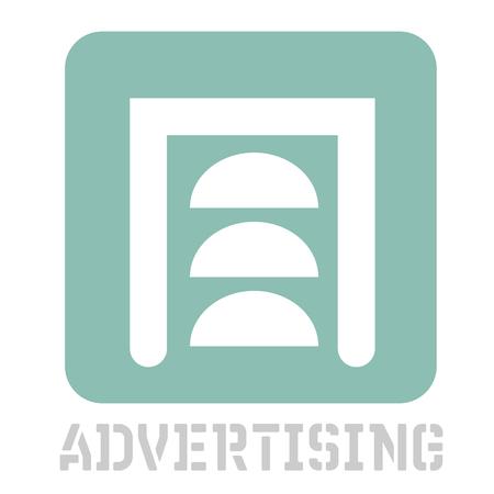 Advertising conceptual graphic icon. Design language element, graphic sign.