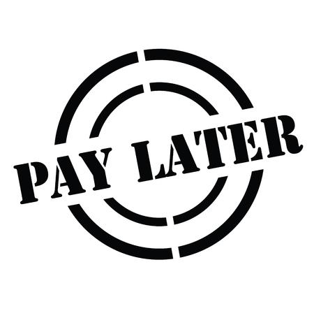 Illustration pour Pay Later stamp - image libre de droit
