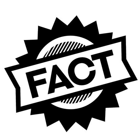 fact black stamp on white background. Sign, label, sticker