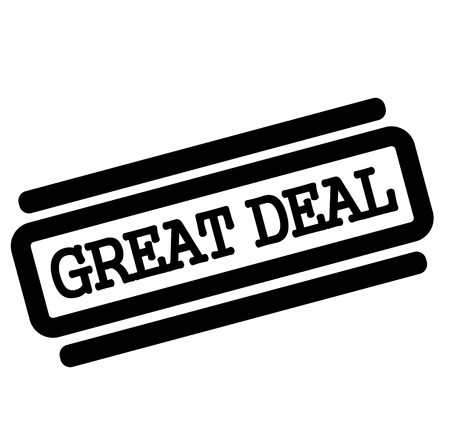 Great Deal black stamp on white background