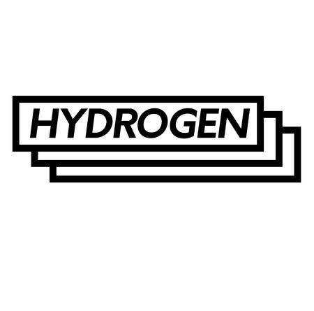 hydrogen stamp on white background . Sign, label sticker