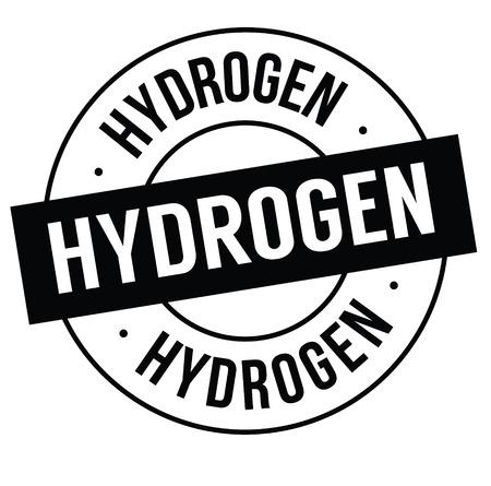 hydrogen stamp on white