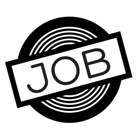 Illustration pour job black stamp on white background, sign, label - image libre de droit