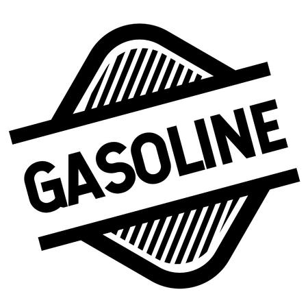 gasoline stamp on white background . Sign, label sticker