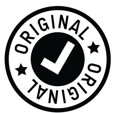 Illustration pour original rubber stamp black. Sign, label sticker - image libre de droit