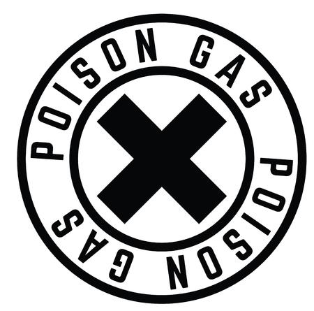 Illustration pour poison gas black stamp on white background. Sign, label, sticker - image libre de droit