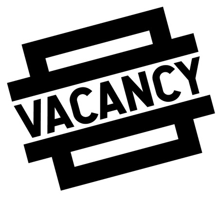 vacancy black stamp, sticker, label on white background