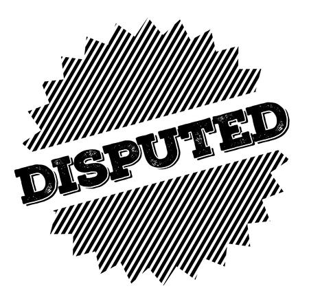 Illustration pour Disrupted black stamp on white background. Flat illustration - image libre de droit