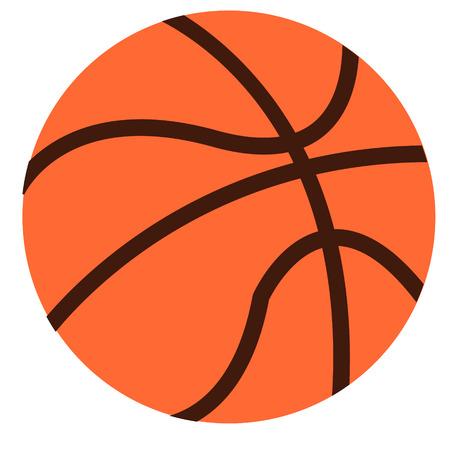 Ilustración de basketball flat illustration on white. Lifestyle and everyday objects series. - Imagen libre de derechos