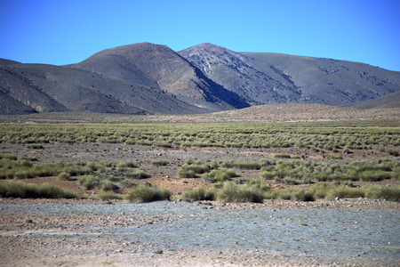 valley in    africa morocco the atlas dry  mountain ground isolated hill