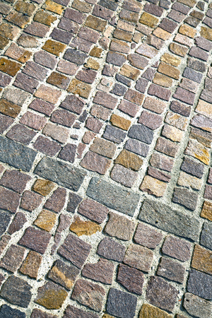 brick in  varano borghi   street lombardy italy  varese abstract   pavement of a curch and marble