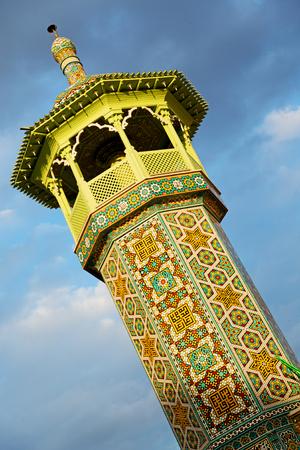 in iran  islamic mausoleum old   architecture mosque  minaret near the sky