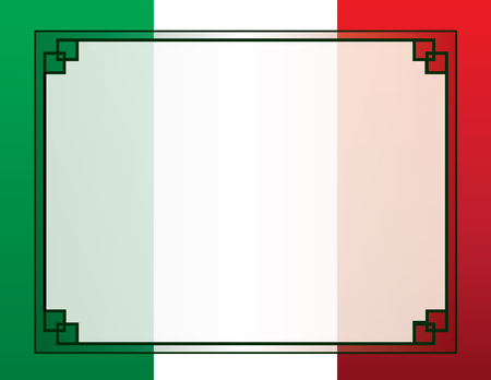 Illustration for Mexican Flag Border Background - Royalty Free Image