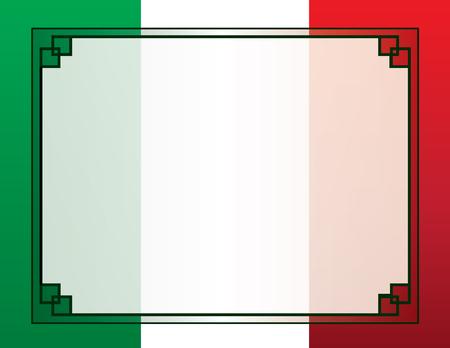 Illustration pour Mexican Flag Border Background - image libre de droit