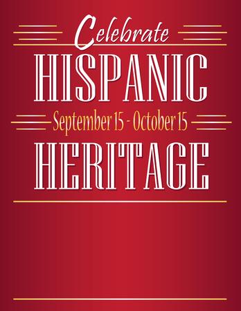 Illustration pour Celebrate Hispanic Heritage Month - image libre de droit