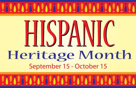 Illustration pour National Hispanic Heritage Month - image libre de droit