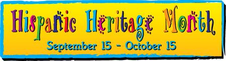 Illustration pour Hispanic Heritage Month Banner - image libre de droit