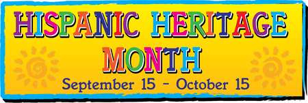 Illustration pour National Hispanic Heritage Month Banner - image libre de droit