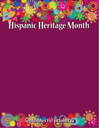 Illustration pour Hispanic Heritage Month Poster Template - image libre de droit