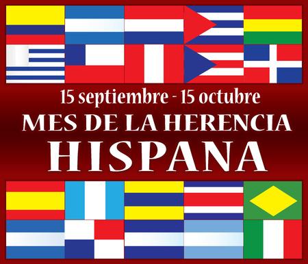 Illustration pour Hispanic Heritage Month - image libre de droit