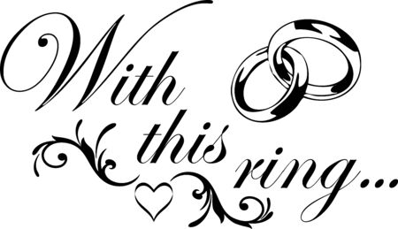 With this ring Wedding Design