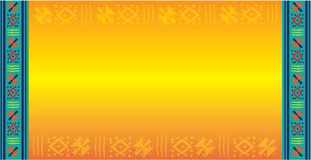 Illustration pour Colorful Hispanic Latino Background - image libre de droit