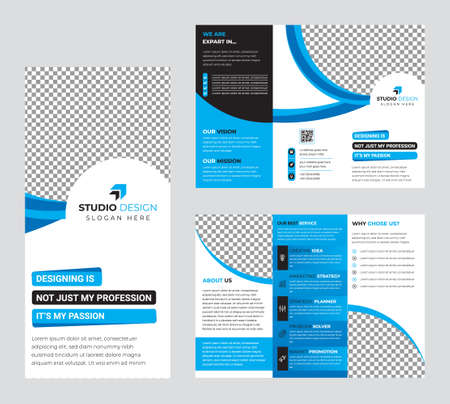 Illustration pour Creative multipurpose Brochure template design with A4 Page Easy to edit magazine cover page design Use for marketing, print, annual report and business presentations and Multipurpose - image libre de droit