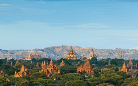 Photo for The Temples of bagan at sunrise, Bagan, Myanmar - Royalty Free Image