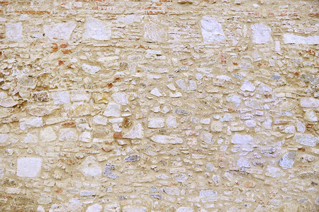 Beige granite wall background texture close upの写真素材