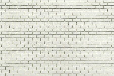 Photo pour Old white brick wall background texture close up - image libre de droit