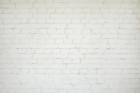 Photo for Old white brick wall background texture close up - Royalty Free Image