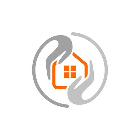 Home care cleaning service logo idea. Vector Logo Template.