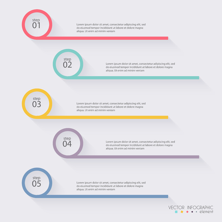 Foto per Vector colorful info graphics for your business presentations. Can be used for info graphics, graphic or website layout vector, numbered banners, diagram, horizontal cutout lines, web design. - Immagine Royalty Free