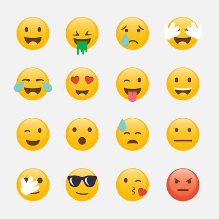 Illustration for Set of Emoticons. Emoji flat design, avatar design. - Royalty Free Image