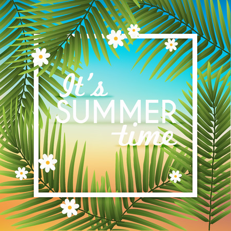Its Summer Time Wallpaper Typographical Background With