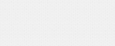 Photo for Panorama white brick walls that are not plastered background and texture. The texture of the brick is white. Background of empty white tile ceramic wall. - Royalty Free Image