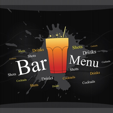Vector. Bar menu design